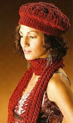 FUN Hairpin Lace Tam & Scarf Set/Apparel/Crochet Pattern INSTRUCTIONS (Hair Pin Lace Vest)