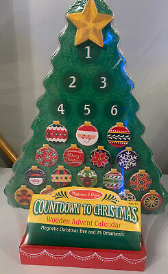 Melissa and Doug Countdown to Christmas Wooden Advent Calendar #3571 NEW