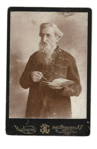 William Booth 1894 Cabinet Card, Founder of The Salvation Army