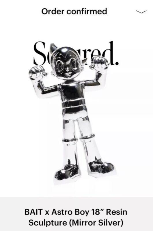 """BAIT x Astro Boy 18"""" Resin Sculpture (Mirror Silver) 1/200 **IN-HAND**"""