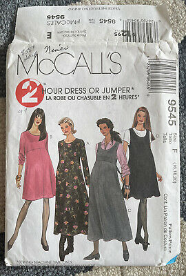 UNCUT McCall's 2 Hour Maternity Dress Or Jumper Pattern 9545 Size 16-20