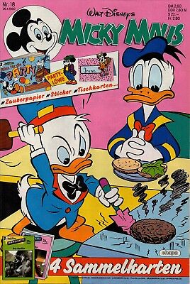 Micky Maus Heft Nr. 18 | 26.04.1990 | Party Heft | W. Disney | Neu | MM43 ()