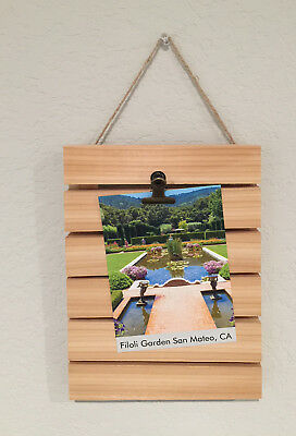Handmade Wood Decorative Vertical Display Clip Board or Photo/Picture Frame](Movie Clipboard)