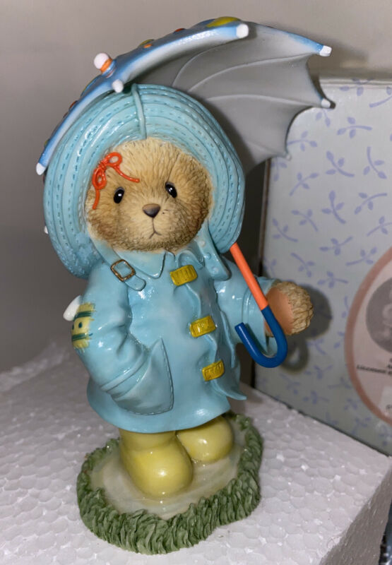 Cherished Teddies 114077 Corinna Girl in Raincoat SPLASH OF SPRINGTIME Figurine