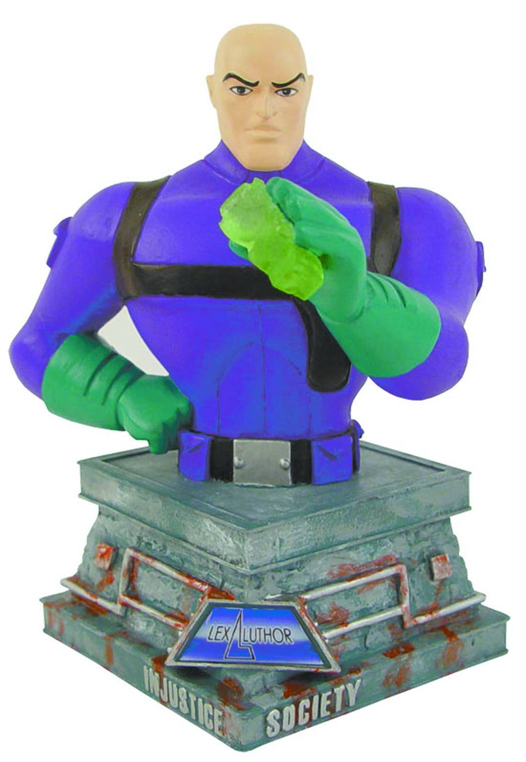 Lex Luthor Paperweight Bust Justice League Cartoon Network Series Sealed