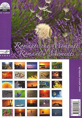 Postkartenbuch Romantische Momente, Herzen, Blumen, 30 Postkarten — B-Ware