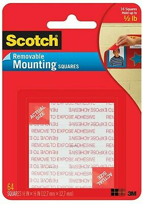 Scotch Removable Mounting Squares 1/2