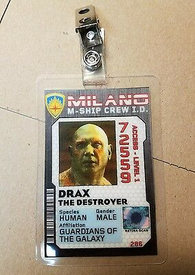 Guardians Of The Galaxy Schiff Crew Id Badge-Drax Kostüm Cosplay Requisite