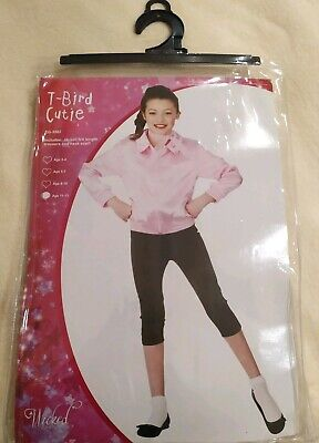 T Bird Cutie, Pink Lady. Grease Outfit Costume Age 11-13