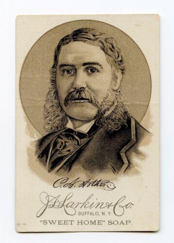 Sweet Home Family Soap Victorian J. L. Larkin Trade Card President C. A. Arthur