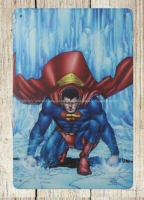 indoor outdoor wall decor Superman marvel art metal tin sign