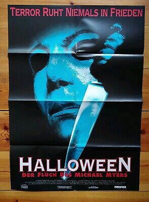Donald Pleasence HALLOWEEN 6 DER FLUCH DES MICHAEL MYERS Filmplakat A1 gefaltet