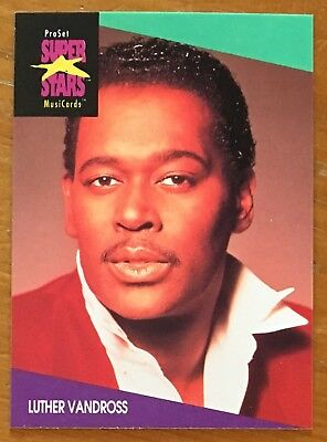 "LUTHER VANDROSS, 1991 PRO SET ""SUPER STARS"" CARD IN EXCELLENT CONDITION ! WOW !"
