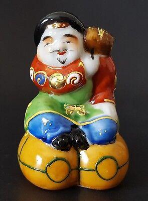 """Daikoku Kutani Japanese Porcelain Figurine God Wealth Farmers Moriage 3 1/2""""  for sale  Vernal"""