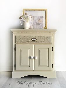 French country solid wood cabinet nightstand table