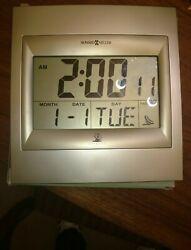 Howard Miller Accuwave DS Radio Controlled Digital Clock 8.75 x 9