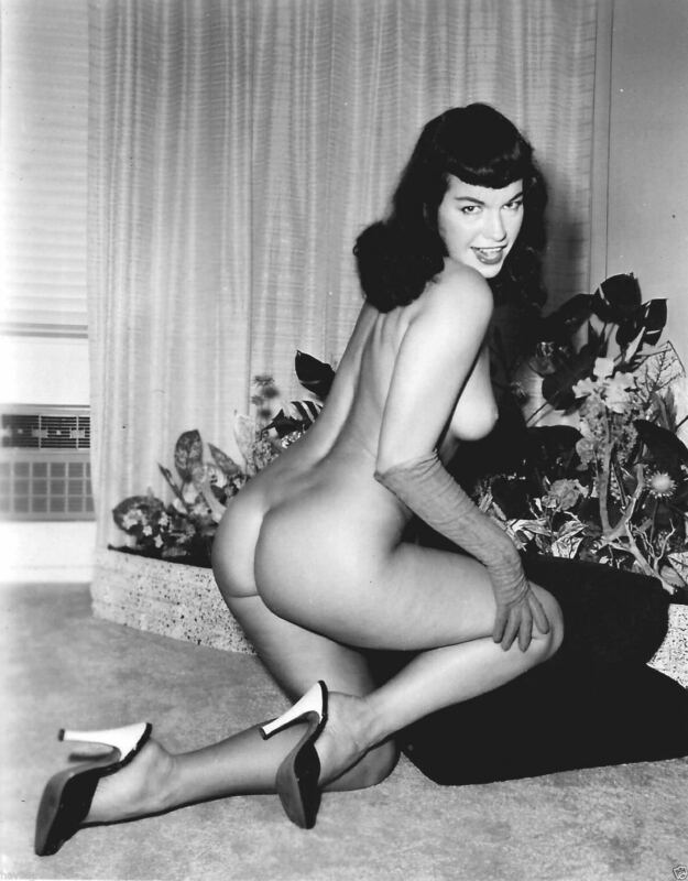 Bettie Page Naked In Heels 8x10 Picture Celebrity Print
