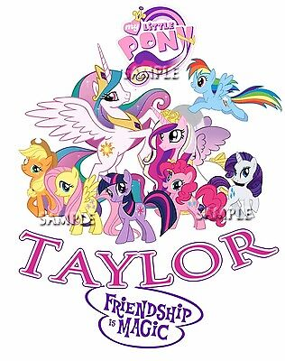 New My Little Pony Personalized T Shirt Party Favor Birthday Gift add name