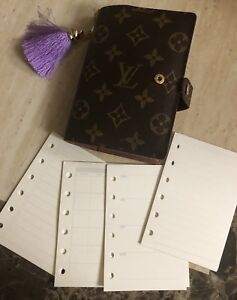 Agenda-PM-Inserts-Blank-Monthly-Weekly-Refills Fits Louis Vuitton PM Agenda #014