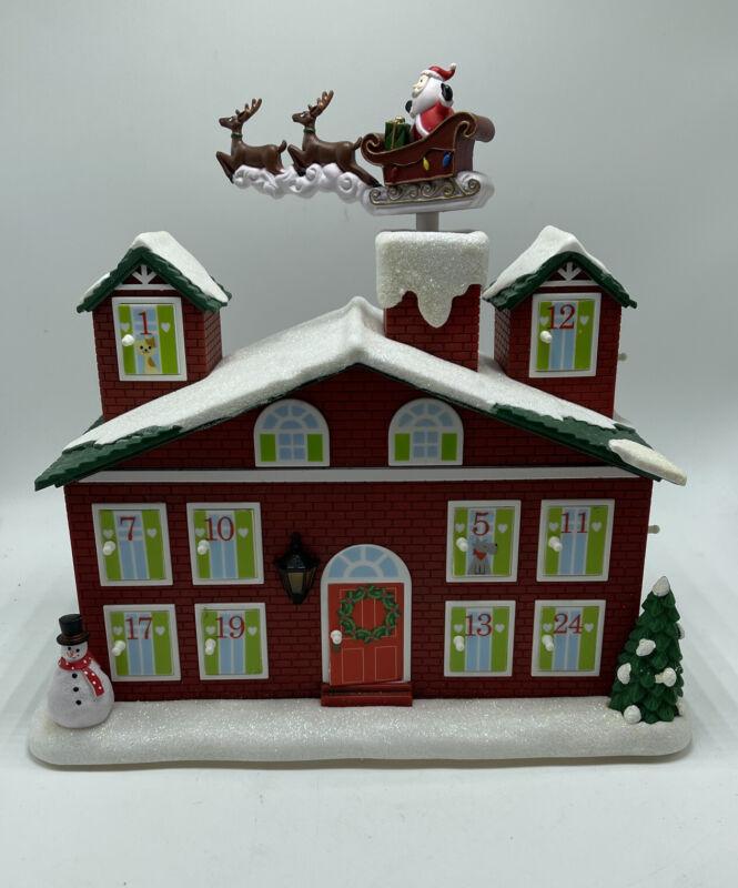 Avon Animated Musical Countdown To Christmas Calendar Advent House Santa 2011