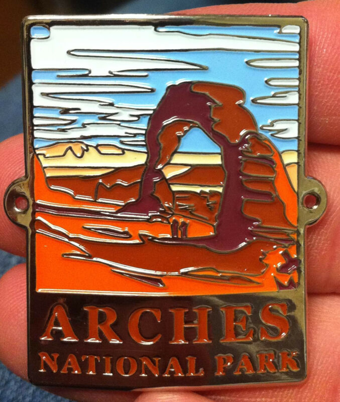 Arches National Park walking Hiking Medallion NEW staff  UTAH
