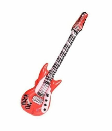 """42"""" Red Rock on Guitars Inflatable -  Inflate Blow Up Toy Party Decoration"""