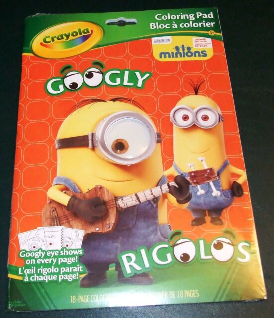Crayola Coloring Pad Minions Googly Eye 18 Pages | eBay