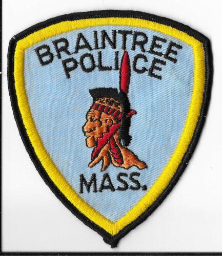 Braintree Police Department, Massachusetts Shoulder Patch