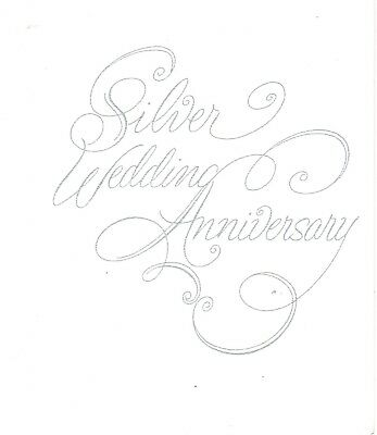 25th Wedding Anniversary Invitations, silver script silver print 25 count (25th Wedding Anniversary Invitations)