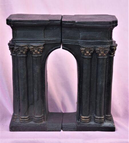 Vintage Roman Arch Column Bookends Cast Iron Metal Arc De Triomphe Souvenir
