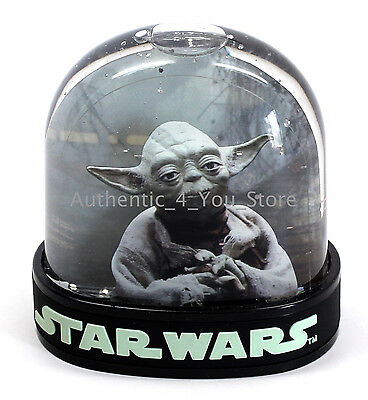 NEW Disney Parks Star Wars Yoda vs. Darth Vader Plastic Snow Globe Snowglobe (Plastic Snow Globes)