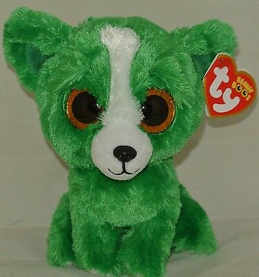 """New! Ty Beanie Boos DILL the Green Chihuahua 6"""" size"""