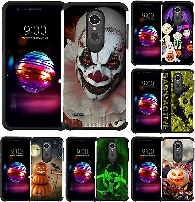 For ZTE Phone Halloween Design Slim Hybrid Armor Case Dual Layer Cover - Design For Halloween