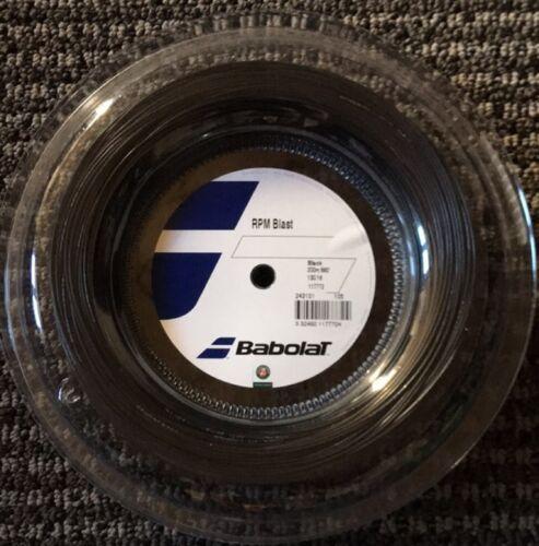 Babolat RPM Blast 16G 1.30mm 660ft 200m Reel Tennis String Black