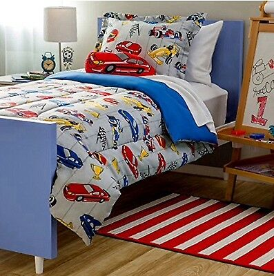 RACE CARS TEENS BOYS CHIC COLLECTION COMFORTER SET 8 PCS FULL SIZE for sale  Shipping to Canada