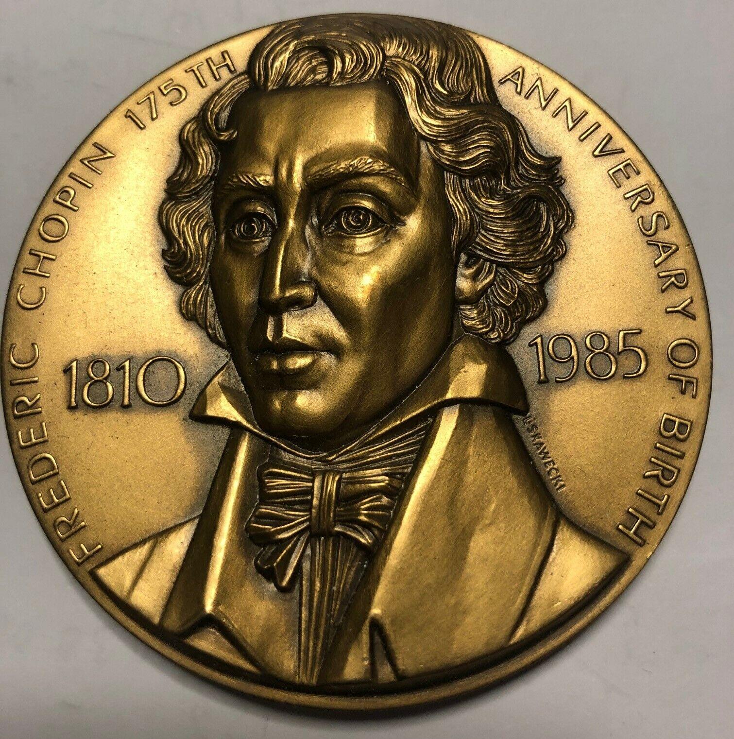 Bronze Medallion Of Frederic Chopin By Leon Stanley Kawecki - $8.95