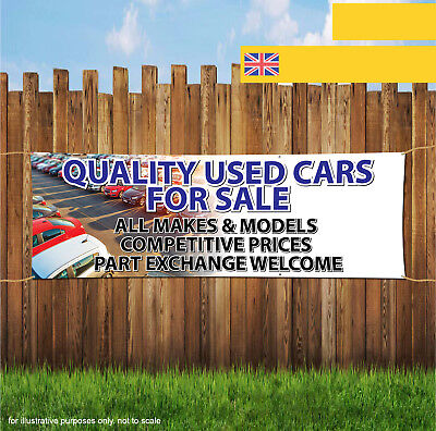 QUALITY USED CARS FOR SALE CAR GARAGE Outdoor Heavy Duty PVC  Banner Sign 2053