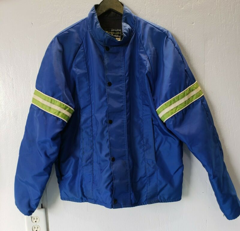 Vintage Kawasaki Racing Jacket - Quilted Lining - Size Large