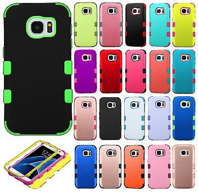 For Samsung Galaxy S7 / S7 EDGE IMPACT TUFF HYBRID Case Skin Phone Cover ()
