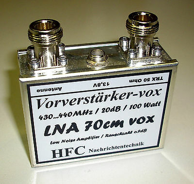 LNA-70cm-VOX / GaAs-FET Vorverstärker / 430 - 440 MHz / Weißblechgehäuse (5035)