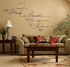 Large family quote sticker vinyl wall art decal mural for Christian wall mural