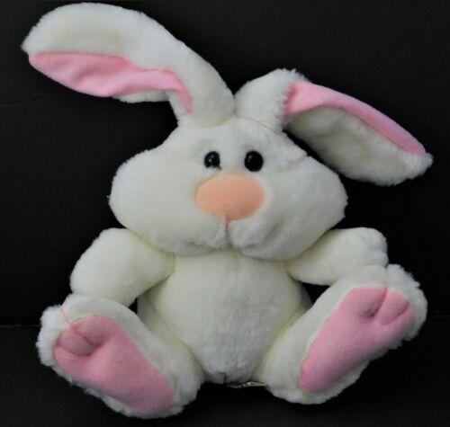 Baby Rattle Plush Bunny SOFT DREAMS White Pink Rabbit Stuffed Animal Toy