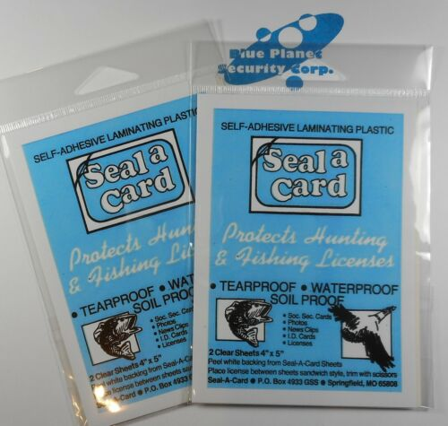 Seal-a-Card Seal 2 Packages Lamination Sheets Seal a Card No Tools Needed USA