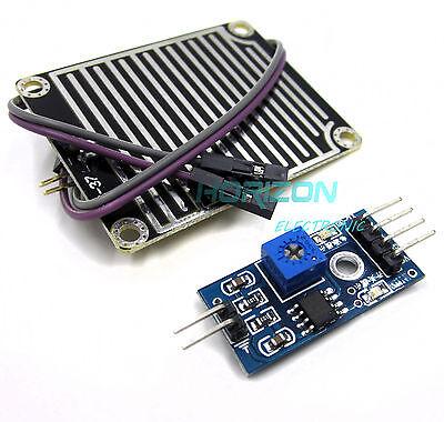 2pcs Rain Weather Module Raindrops Detection Sensor Moduel Humidity Arduino Top