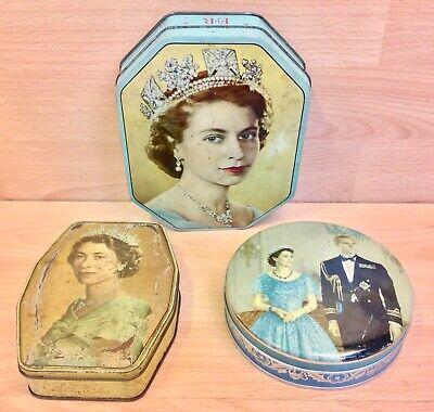 Queen Elizabeth II Coronation Souvenir Biscuit & Confectionery Tins Job Lot.
