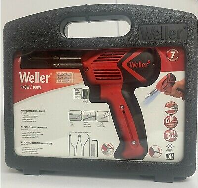 Weller 9400pks 120v Dual Heat 140100w Soldering Gun Kit W6 Second Heat Up Time