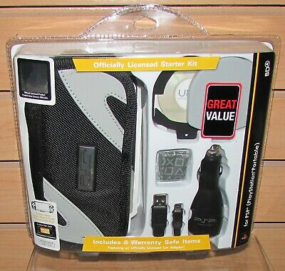 Psp Accessory Kit - Sony PSP 2000 Accessory Kit Carry Case, Car Charger, Screen Protector, USB Cable