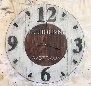 Reclaimed Timber Unique Hand Made Clock Narre Warren South Casey Area Preview