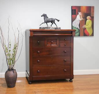 Antique Victorian Cedar Chest of Drawers / Tall boy – Wave Front