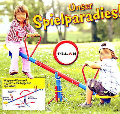 SoBuy® Karussell-Wippe, Kinder-Wippe, Wippe aus Metall, Spielzeug  SWI01